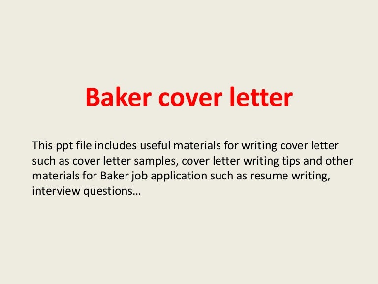 Superior Bakercoverletter 140227225910 Phpapp02 Thumbnail 4?cbu003d1393541979