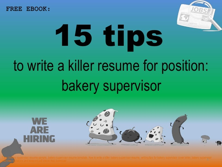 Bakery supervisor resume sample pdf ebook free download