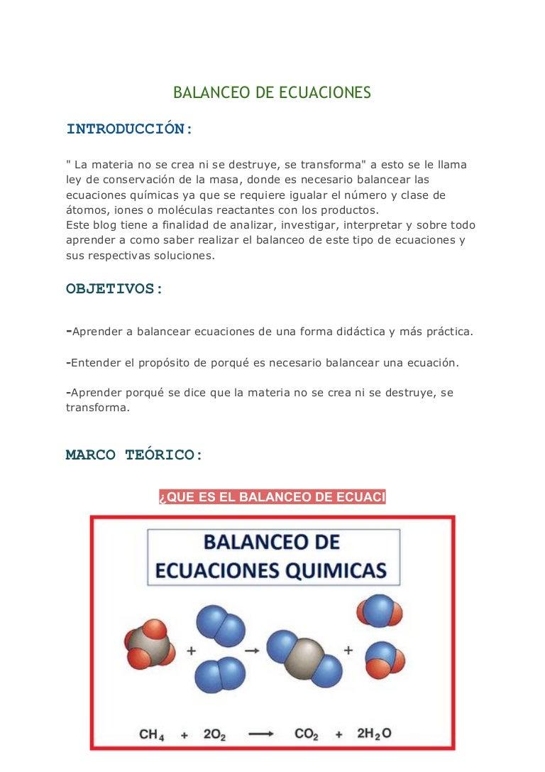 Lujoso Ecuaciones De Equilibrio De La Hoja De Trabajo Chem 10 2 ...