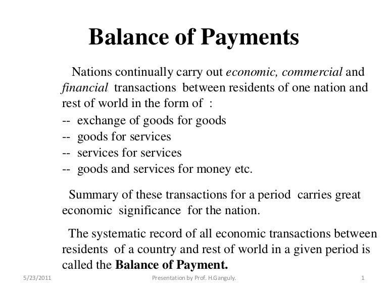 balance of payment and balance of trade pdf