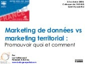 Géomatique : Marketing de données vs marketing territorial