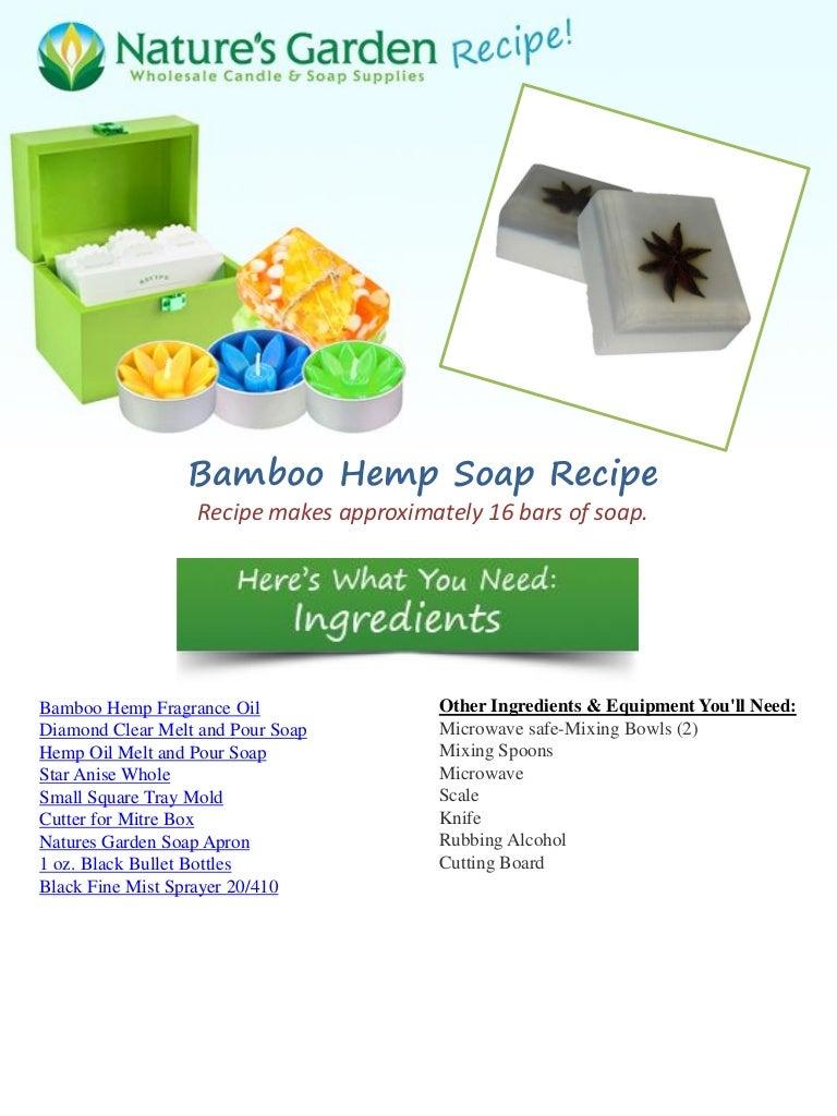 Bamboo Hemp Soap Recipe