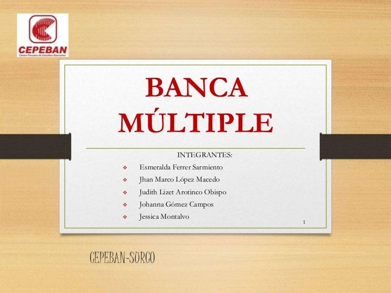 Banca multiple JHAN MARCO