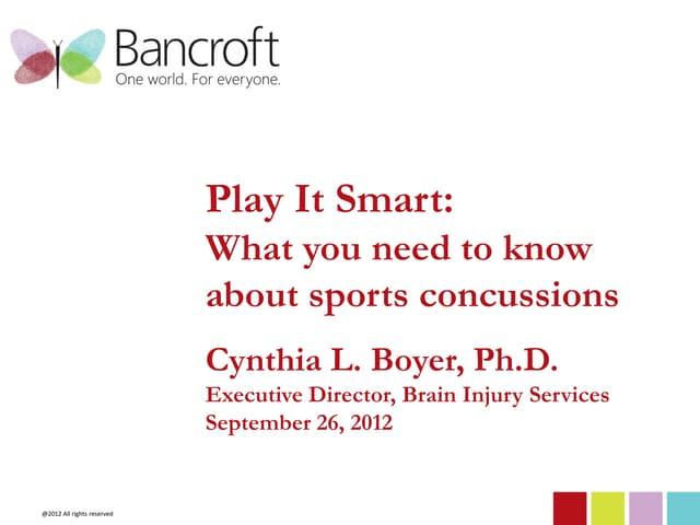 Bancroft sports concussions