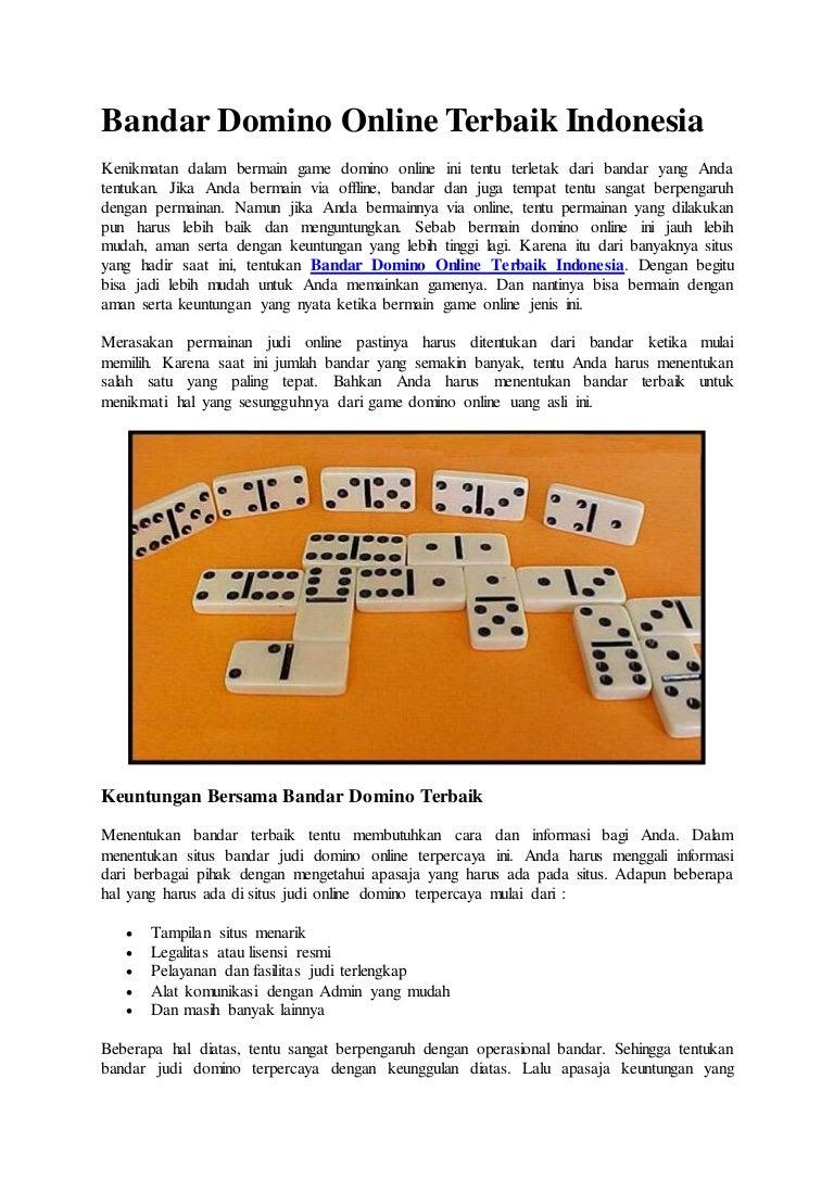 Bandar Domino Online Terbaik Indonesia