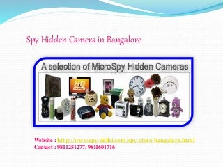 Spy Hidden Camera in BangaloreBangalore