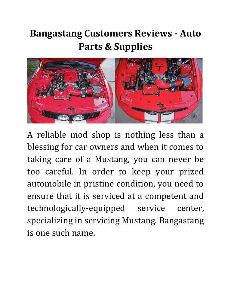 Bangastang Customers Reviews Auto Parts Supplies