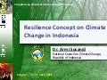Resilience concept on climate change