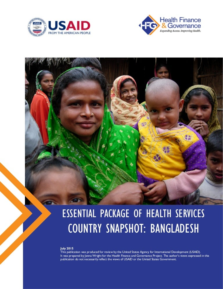 Essential Package Of Health Services Country Snapshot Bangladesh
