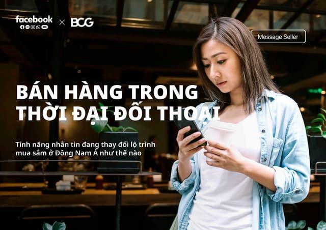 Bán hàng trong thời đại hội thoại - Facebook
