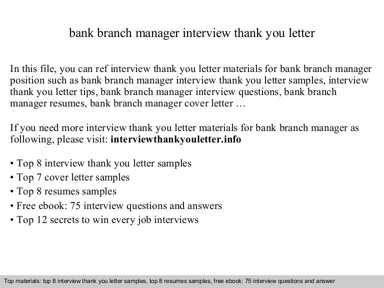 Bank branch manager