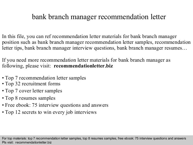 Bank branch manager recommendation letter bankbranchmanagerrecommendationletter 140825011750 phpapp02 thumbnail 4gcb1408929495 spiritdancerdesigns Gallery