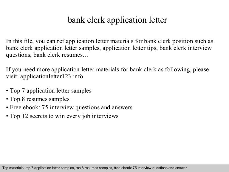 Bank clerk application letter bankclerkapplicationletter 140902092209 phpapp01 thumbnail 4gcb1409649754 altavistaventures Gallery