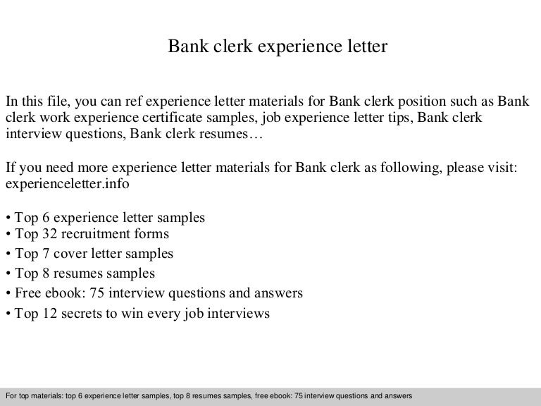 Experience letter work experience letter cbre experience letter experience letter bankclerkexperienceletterphpappthumbnailjpgcb spiritdancerdesigns Choice Image