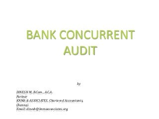 Bank concurrent audit