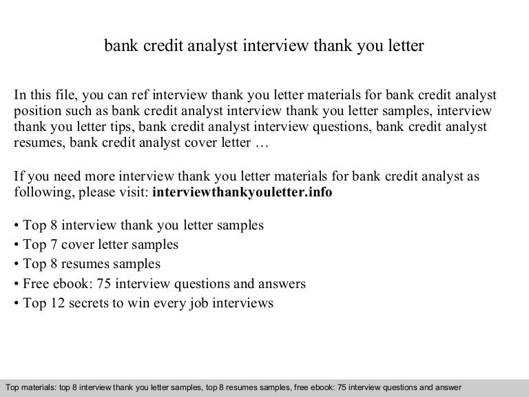 credit analyst interview - Ecza.solinf.co