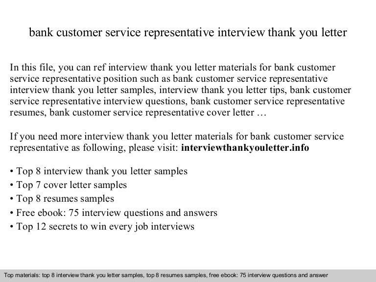 bank customer service representative - Cover Letter For Bank Customer Service Representative