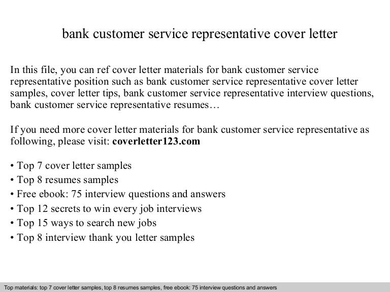 bank customer service representative cover letter - Cover Letter For Bank Customer Service Representative