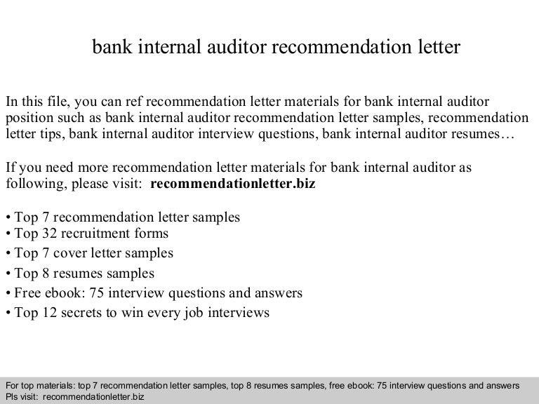 sample internal audit resume