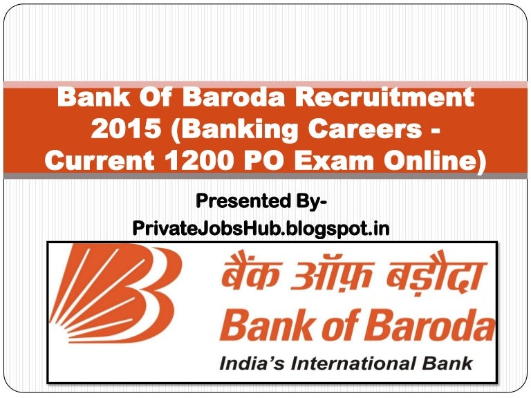 recruitment of bank of baroda 2015