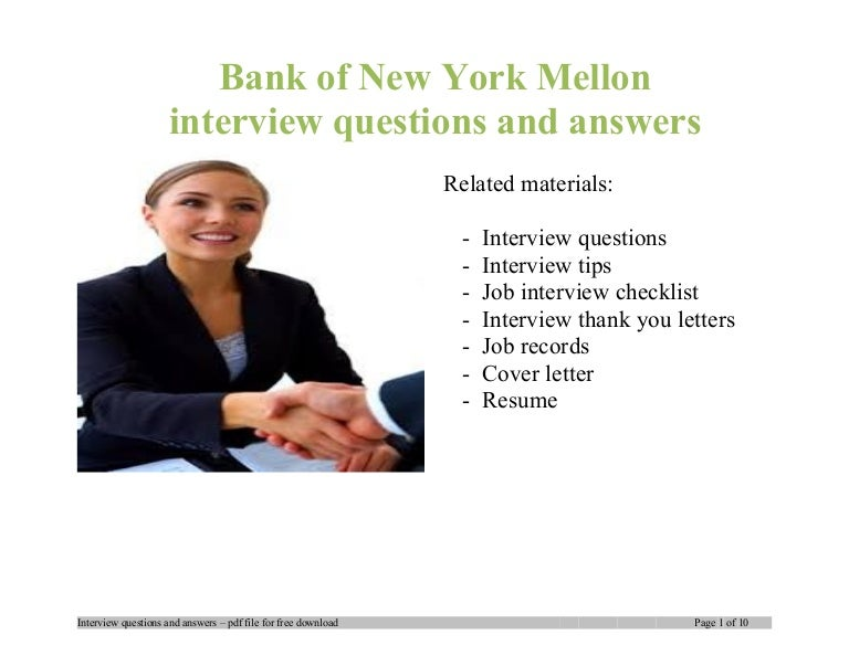 bank of new york mellon interview questions and answers