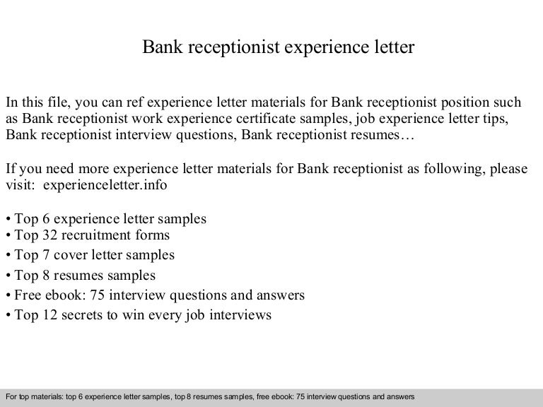 Bankreceptionistexperienceletter 140901111518 phpapp02 thumbnail 4gcb1409570141 yadclub Gallery