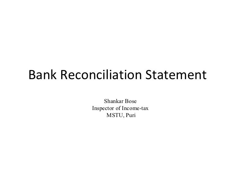 Bank ReconciliationPptBose