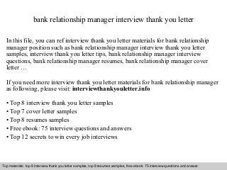 Bank Relationship   LinkedIn
