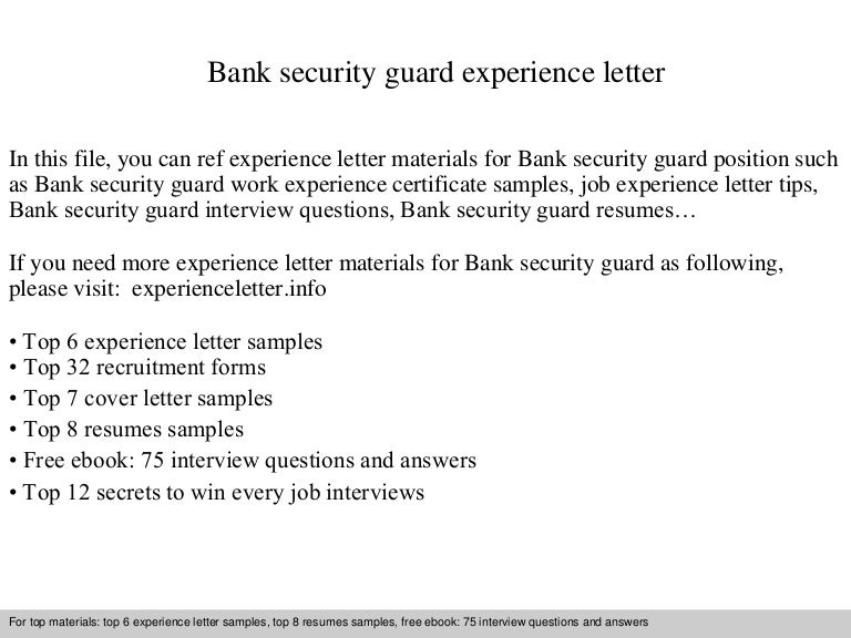 Bank security guard experience letter banksecurityguardexperienceletter 140901111535 phpapp02 thumbnail 4gcb1409570158 spiritdancerdesigns Choice Image