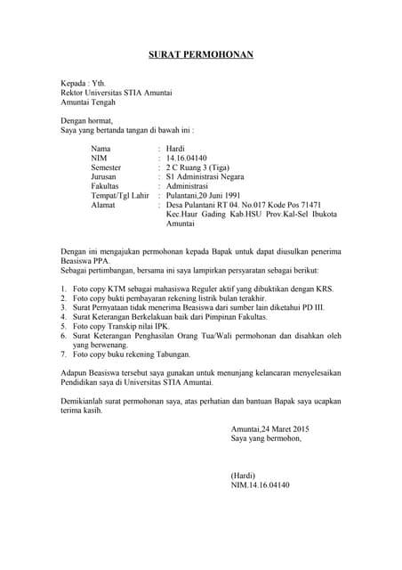 Kelengkapan Administrasi Berkas Untuk Pelamar Beasiswa Kse Undip 2014