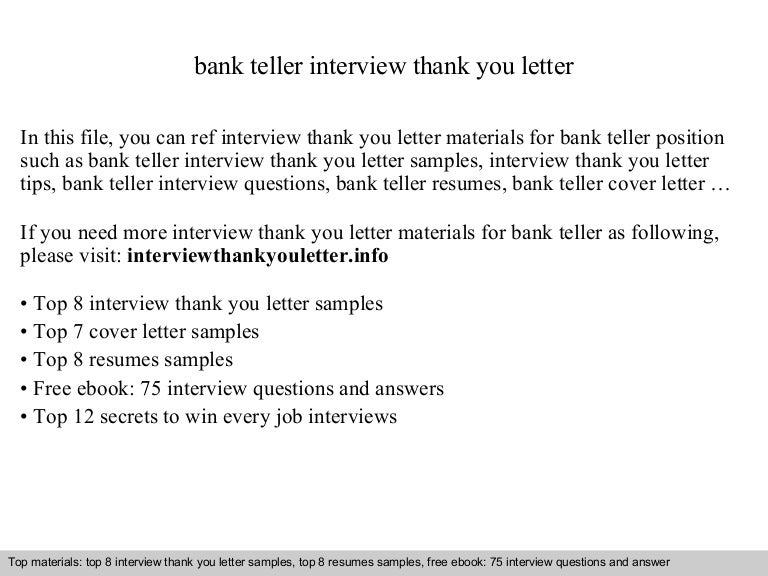 Thank You Letter Tips Sample PostInterview ThankYou Note