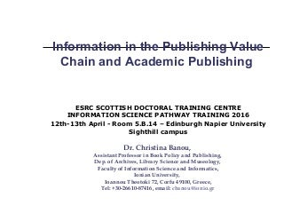 Dissertation abstracts international publisher
