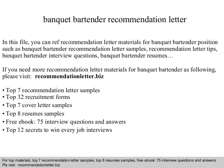 Banquet bartender recommendation letter banquetbartenderrecommendationletter 140825014625 phpapp01 thumbnail 4gcb1408931209 spiritdancerdesigns Image collections