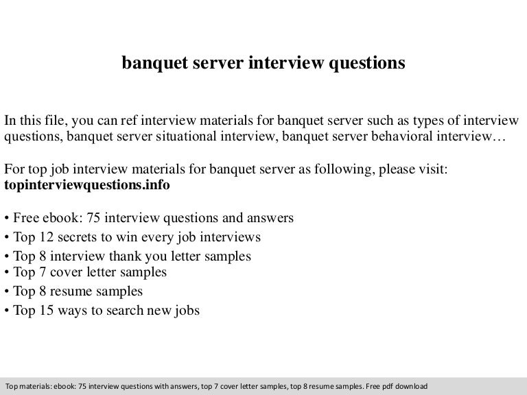 Typical Server Interview Questions  Interview Questions For Servers