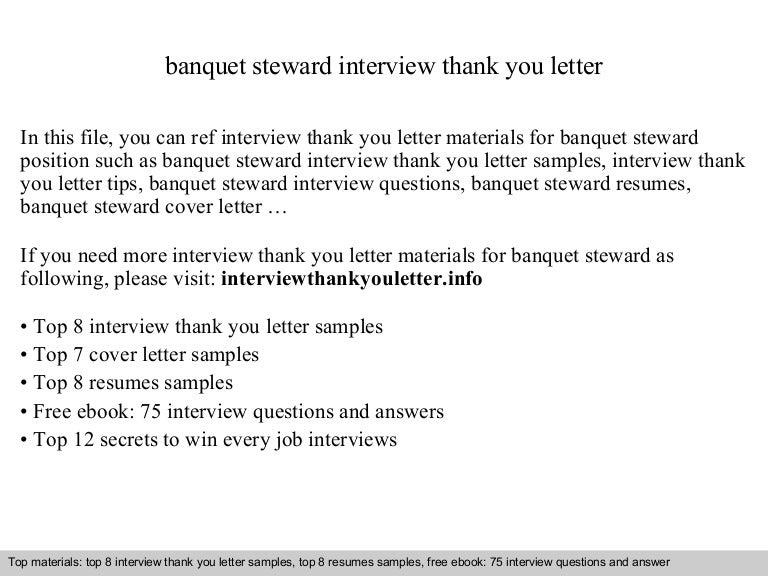 Banquet steward