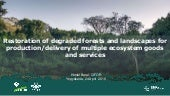 Restoration of degraded forests and landscapes for production/delivery of multiple ecosystem goods and services