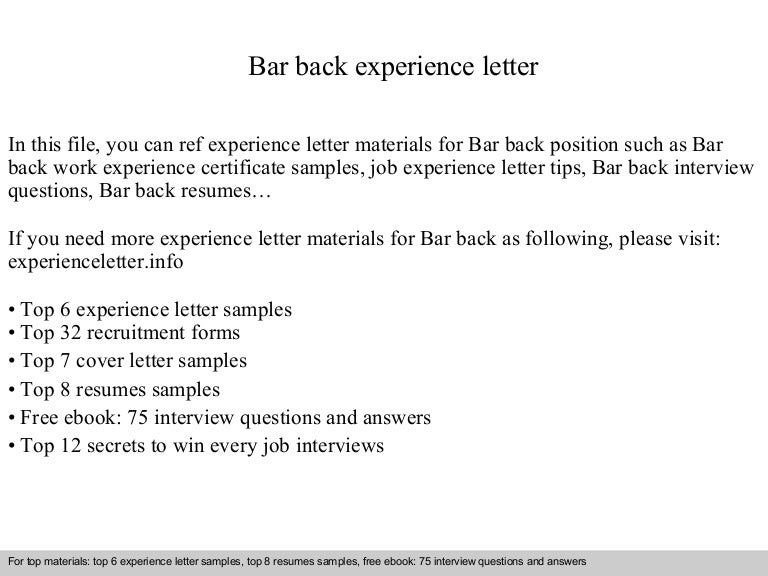 barback resume examples