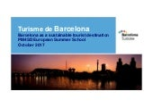 Barcelona as a sustainable tourist destination albert de_gregorio