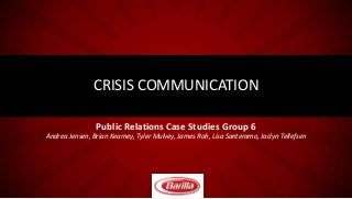 Barilla Crisis Communications Plan