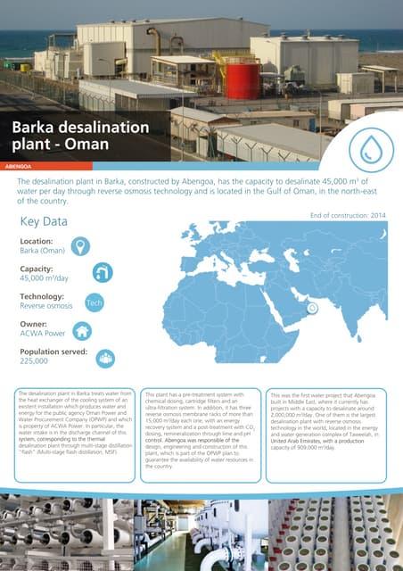 Barka desalination plant - Oman