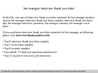 Catering general manager cover letter