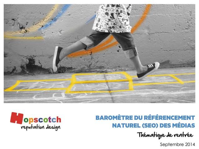 Baromètre Hopscotch du référencement naturel SEO des médias - thématique de rentrée