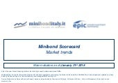 Minibond Scorecard Market trends - Main indicators as of January 31st 2018
