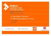 Baromètre mobile marketing association france : 2ème trimestre 2013