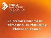 Baromètre mobile marketing association France mai 2013