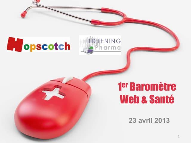 Baromètre web & santé Hopscotch Listening Pharma