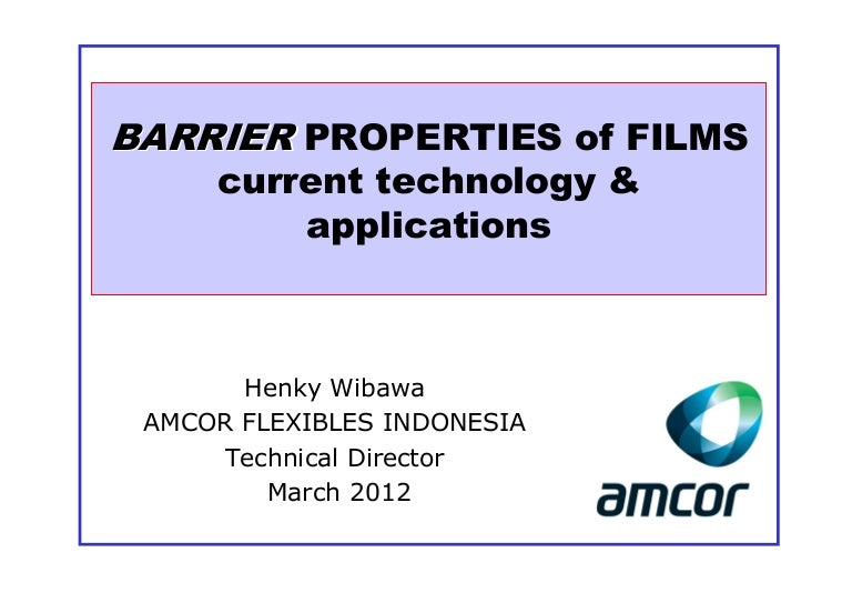 Barrier Properties Of Films 03 12