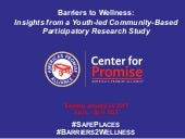 [WEBINAR] Barriers to Wellness: Insights from a Youth-led Community Based Participatory Research Study