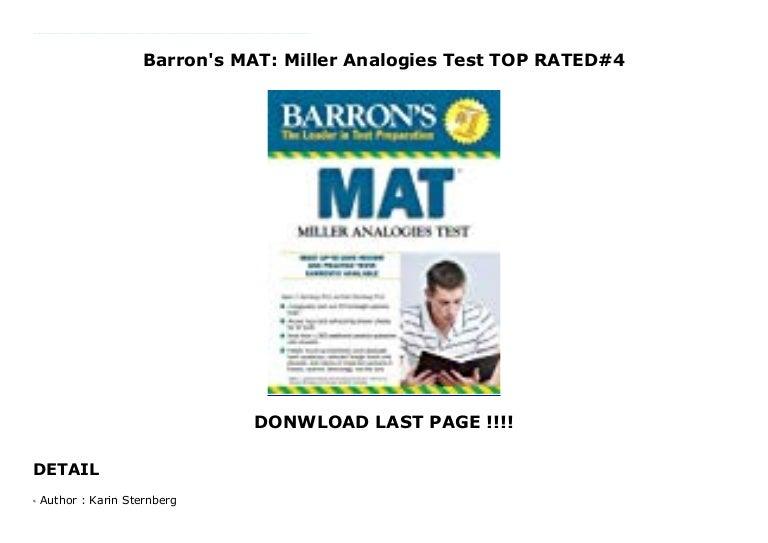 Miller Analogies Test McGraw-HIlls MAT