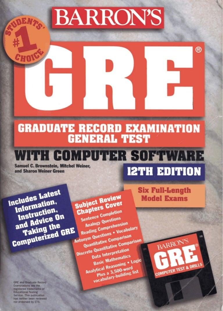 Barron s gre(12th edition)